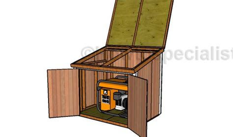 generator shed plans howtospecialist how to build