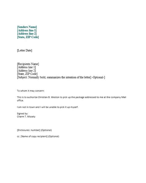 Authorization Letter Email 46 Authorization Letter Sles Templates Template Lab