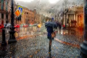 des photos de ville sous la pluie