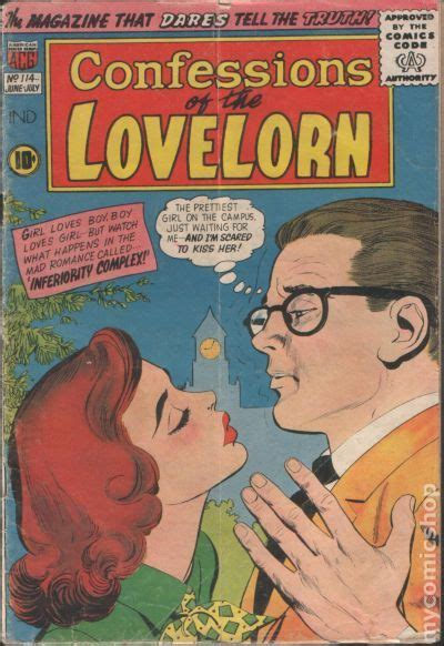 confessions of a inferior books confessions of the lovelorn 1954 comic books