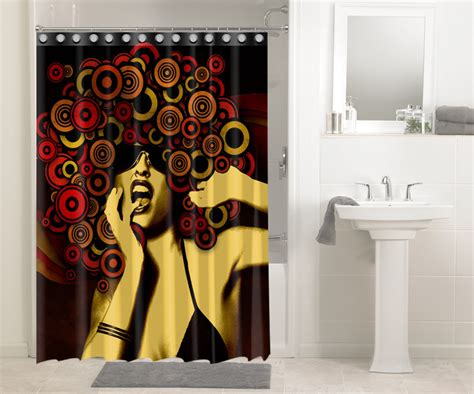 Good Color For Small Bathroom - afrocentric afro hair design african 645 shower curtain waterproof bathroom decor