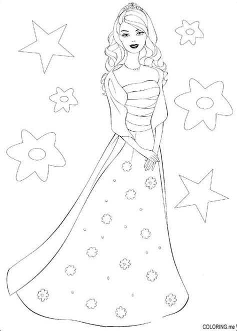coloring page barbie dress coloring me