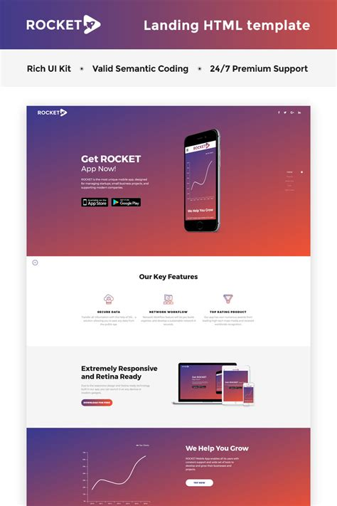 template landing page software landing page template 66268 templates