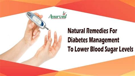ppt remedies for diabetes management to lower