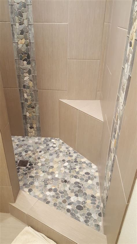 tile borders for bathrooms 1000 images about bathroom pebble tile and stone tile