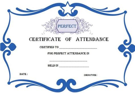 certificate of attendance template word 21 best certificate of attendance templates for your