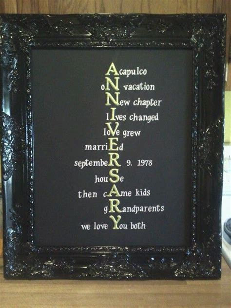 Anniversary gift for parents   For the Home   Pinterest