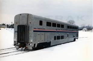 transition sleeper no 39005 in the snow 1990s amtrak