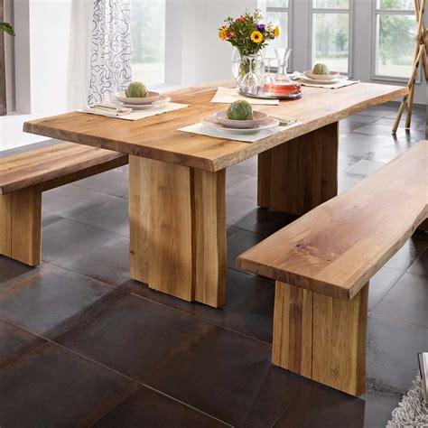 einfache esszimmertisch herzstück ideen baumkanten esstisch aus massivholz ge 246 lt holztisch
