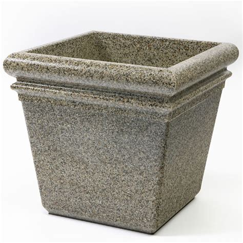 Commercial Indoor Planters by Commercial Zone 174 18 Quot Stonetec Indoor Or Outdoor Planter Riverstone