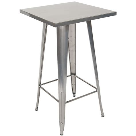 Metal Bar Table Metal Table In Clear Finish Bar Height