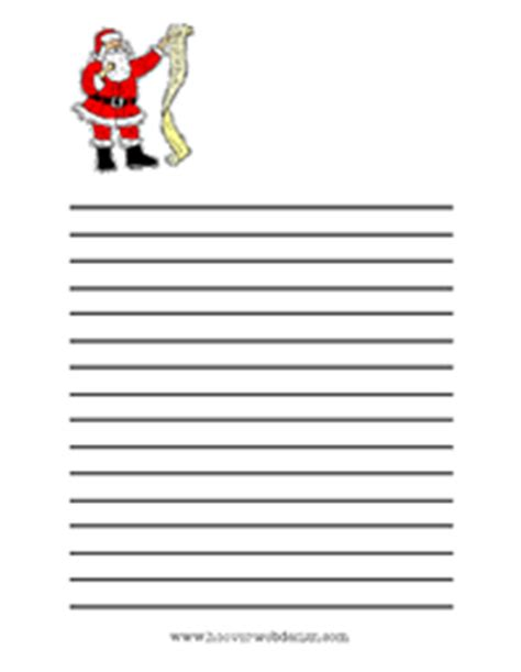 printable santa list paper printable christmas writing paper