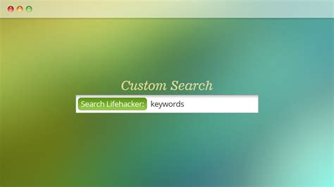 Lifehacker Best Search 5 Custom Searches You Should Enable In Your Browser Right
