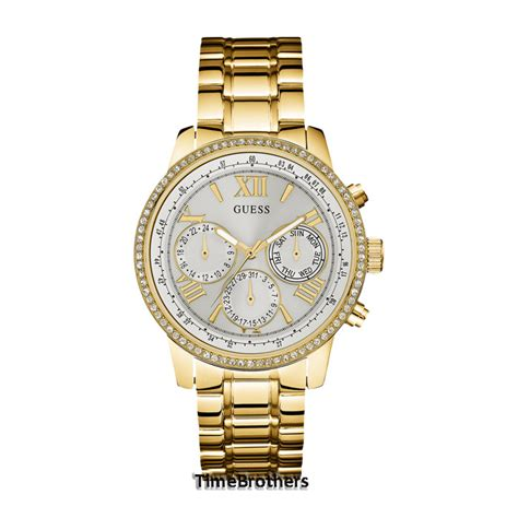 Guess Gs9086 Gold White new guess for white sub gold tone u0559l2 w0623l3 auctions buy