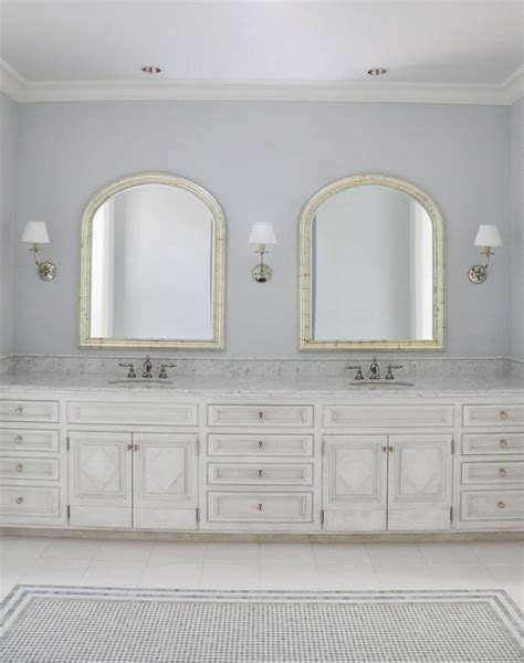 lilac and grey bathroom mirrored double vanity transitional bathroom sarah