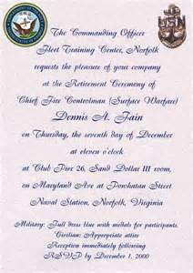 navy retirement program template retirement ceremony invitations