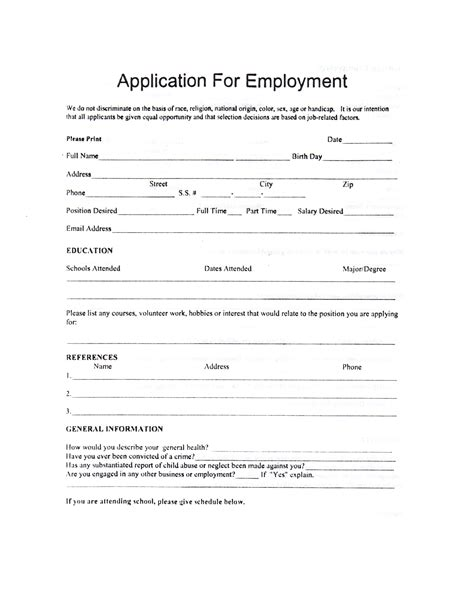 child care employment application template child care employment application learning