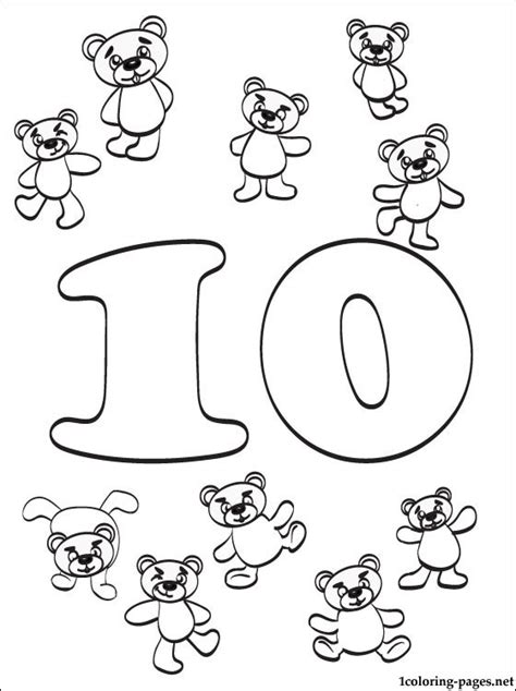 coloring pages for numbers 1 10 number 10 ten coloring page coloring pages