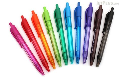 papermate color pens paper mate inkjoy mini pens retractable 10 color set