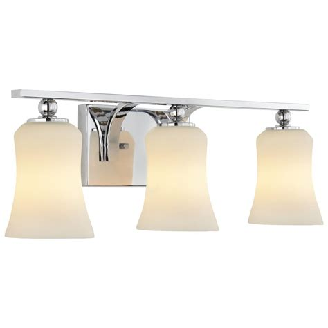 Glass Vanity Light Home Decorators Collection 3 Light Chrome Square Bath Vanity Light With Etched White Glass 15333