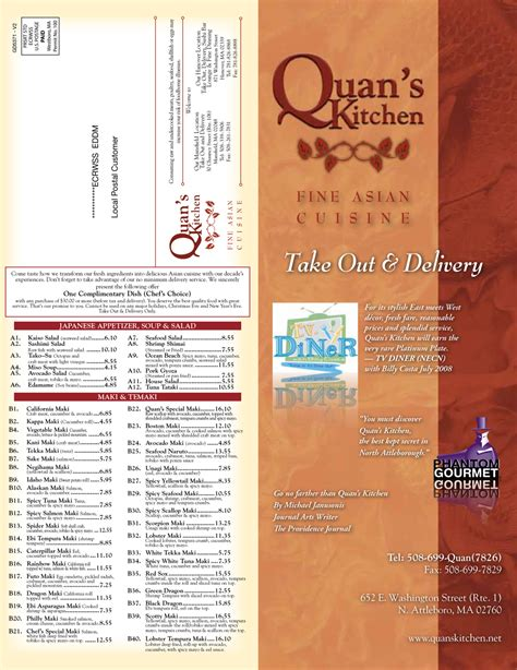 Quans Kitchen Mansfield by Quans Kitchen N Attleboro Take Out Menu