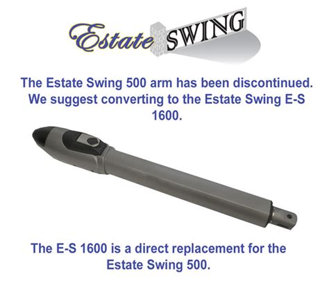 estate swing estate swing replacement arm for es 500 series left arm