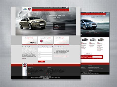 Garage Web Car Dealer Website Design India Automotive Web Design