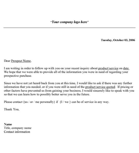 Follow Up Letter Template Sales Follow Up Letter Template Letter Templates Free Printable And Template