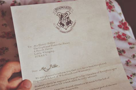 Harry Potter Acceptance Letter From The What Does The Hogwarts Acceptance Letter Look Like