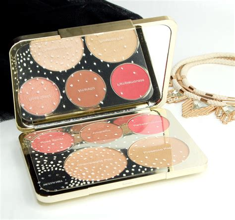 becca blushed with light palette becca x jaclyn hill chagne collection face palette