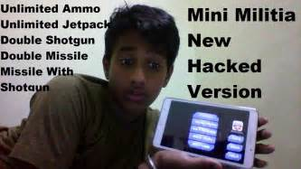 hacked version mini militia new hacked version no root all guns can be