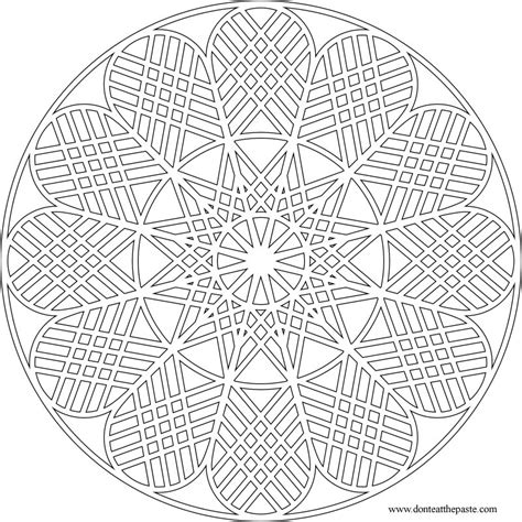 geometric coloring pages advanced don t eat the paste geometric mandala