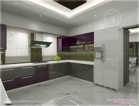 interior decoration of kitchen kitchen interior views by ss architects cochin kerala
