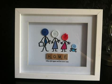 scrabble crafts ideas button family scrabble frame the supermums craft