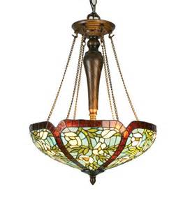 Stained Glass Ceiling Light Fixtures Meyda 17 Quot Stained Glass Anemone Inverted Ceiling Light Fixture
