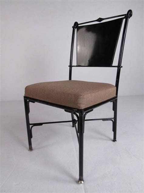 Contemporary Metal Dining Chairs Set Of Six Contemporary Metal Dining Chairs For Sale At 1stdibs