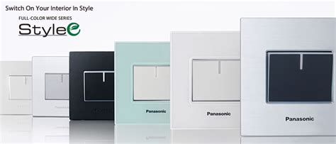 Saklar Panasonic Wide Series color wide series stylee pt panasonic gobel eco