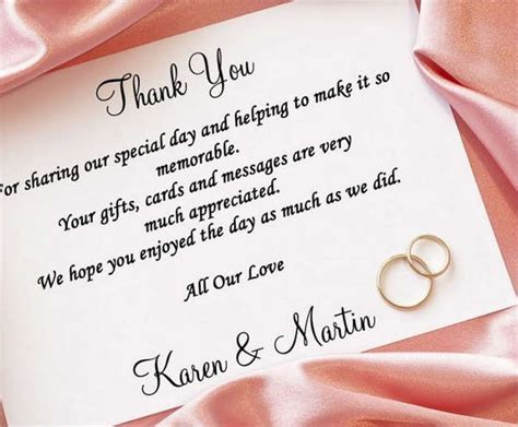 thank you card templates wedding gifts gift card templates free premium templates