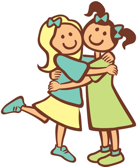 Clipart Friends Hugging tash to empowered to empower cut the dead wood