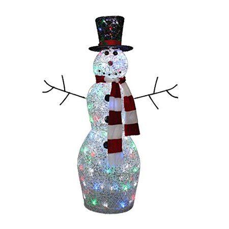 4 ft snowman christmas tree living 4 ft snowman outdoor decoration walmart