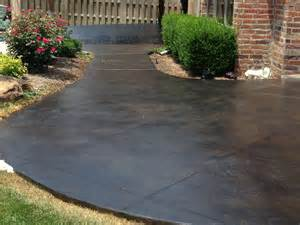 concrete patio stain ideas photos bill s custom concrete oklahoma city s best