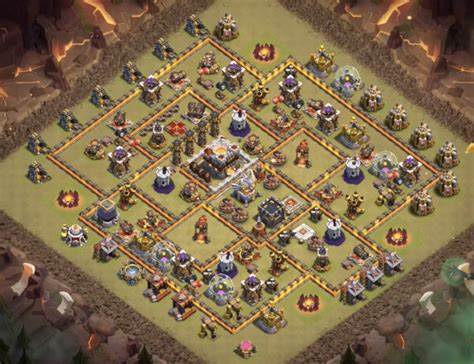 coc layout anti golem anti witch slap tactics base designs for th9 to th11