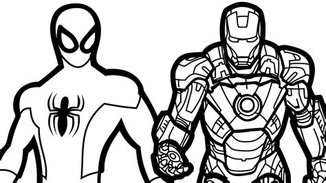 iron spiderman coloring pages to print spiderman and ironman free coloring page adults iron