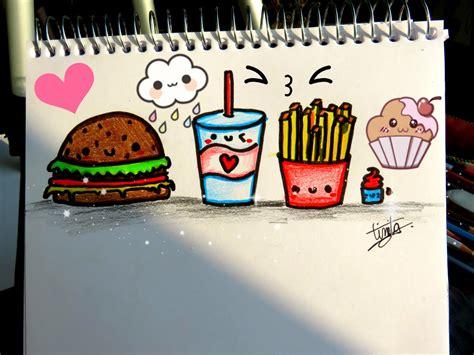imagenes de comida con caritas kawaii como dibujar comida kawaii dibujostinita