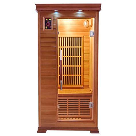 cabine sauna cabine sauna infrarouge luxe sauna 1 place