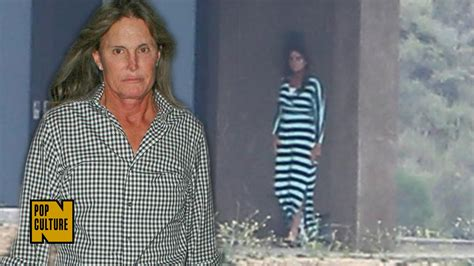 what up with bruce jenner bruce jenner photographed wearing a dress outside his