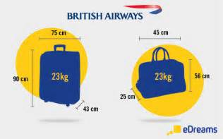 cabin luggage and checked bags on airways flights