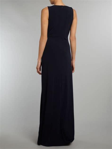 beaded bodice maxi dress eliza j maxi dress beaded bodice in blue navy lyst