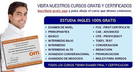 tutorial de internet basico gratis cursos de ingles gratis certificado om personal aprender