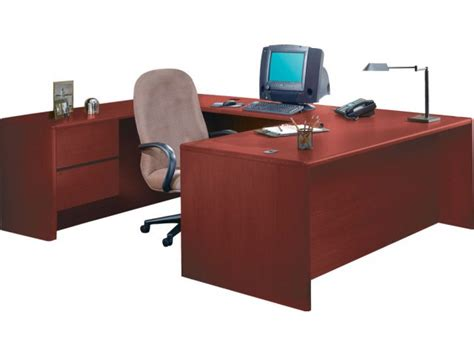 Hon Office Desks Hon U Shaped Office Desk W Left Pedestal Credenza Hon 3100l Office Desks